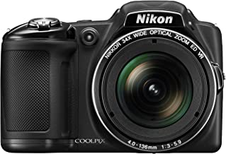 $269 » Nikon COOLPIX L830 16 MP CMOS Digital Camera with 34x Zoom NIKKOR Lens and Full 1080p HD Video (Black) (Discontinued by Manufacturer) (Renewed)