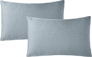 Amazon Brand - Solimo 2-Piece Bed Pillow Set, Grey, 43 x 69 cm