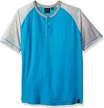 قميص رجالي من Burnside مطبوع عليه Big Mastermind Knit Henely Raglan