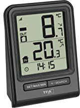 TFA Dostmann Prisma Draadloze thermometer, buitentemperatuur, binnentemperatuur, tendentiepijl, maximum- en minimumwaarden