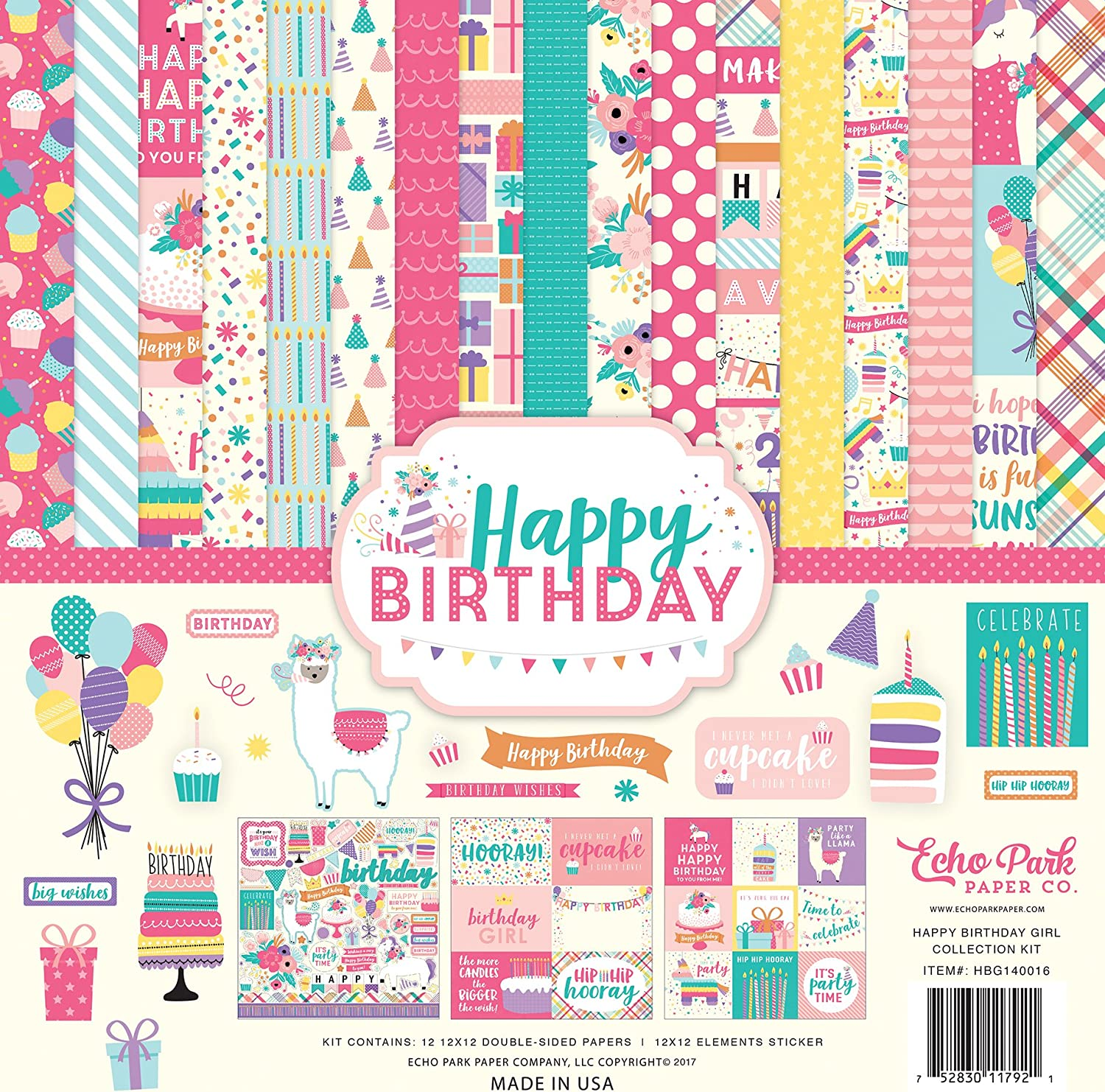 "Scrapbook Paper Pad American Girl 150p  birthday 12/"" doll Party Sleepover Craft"