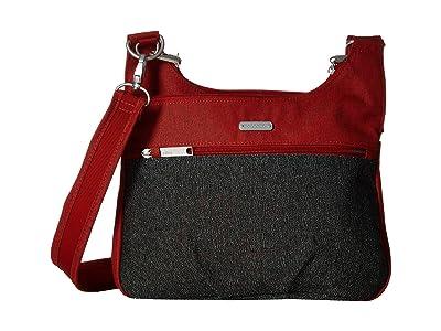 Baggallini Anti Theft Cross Over Crossbody (Ruby Antitheft) Handbags
