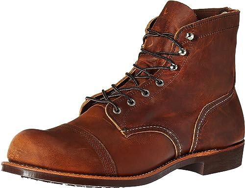 Rojo Wing Mens Iron Ranger 8085 Copper Leather botas 40 EU