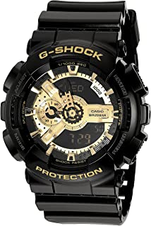 Casio G-Shock Mens Analog/Digital Sports Watch - Black/Gold - GA-110GB-1A