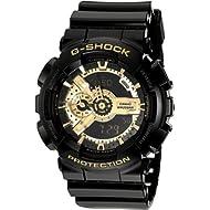 Men's Casio G-Shock Classic Black and Gold X-Large Ana-Digi Watch GA110GB-1A