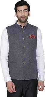 WINTAGE Men's Premium Rayon Grandad Nehru Jacket Vest Waistcoat