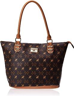 BHPC Womens Satchel Bag, BROWN - BHVA1604BN