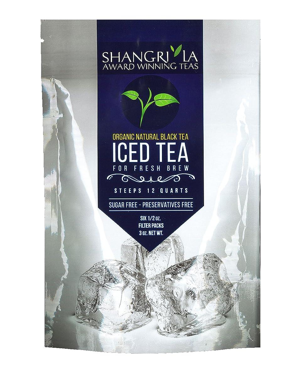 Shangri La Tea Company Iced Tea, Organic Natural Black, Bag of 6, 1/2 oz Pouches