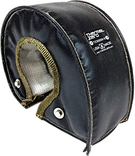 Thermal Zero Black UNIVERSAL T4 Turbo Blanket Holds 2400 degrees. MADE IN USA unlike the rest. Fits most T4 turbochargers including Garrett, Precision, Turbonetics etc.