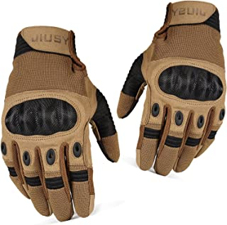 WTACTFUL Touch Screen Tactical Military Hard Knuckle Full Finger Gloves for Army Airsoft Paintball Combat Hunting