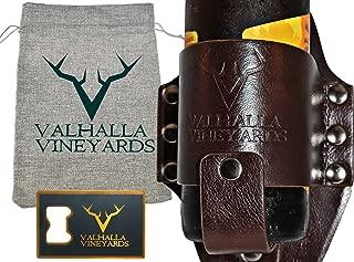 Premium Leather Beer Holster - Fits Standard Beer Bottles- By ValhallaVineyards