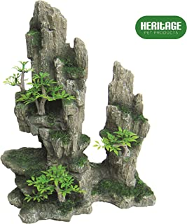Heritage HB011 - Figura decorativa para acuario de acuario, diseño de cueva de camuflaje,