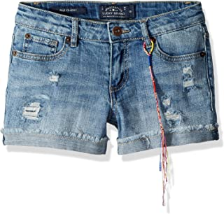 Lucky Brand Girls Ronnie Cuffed Denim Short Casual Shorts - Blue