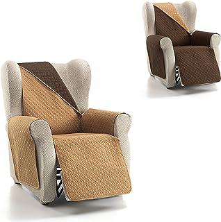 Cardenal Textil RUBÍ Cubre Sofa Bicolor Reversible Beige Marron 1 PlazaRelax