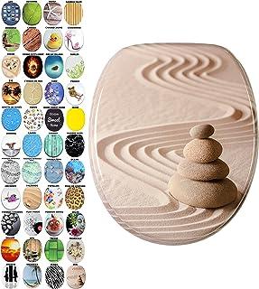 Abattant WC Frein de Chute Soft Close - Grande sélection - Finition de Haute qualité - Fixation Facile (Zen)