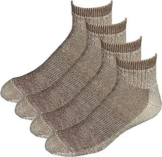 EchoGorge Mid-Weight Merino Wool Quarter Socks, 4 Pair. Made in USA