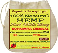 P&F Hemp Nut Milk Bag Reusable | All Natural | No More Microplastic and Toxic Chemicals | Better Than Cotton | Super Healt...