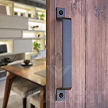 2 Pack 7 Rectangular-Steel Pull Handle for Sliding Barn Doors Gates Garages Sheds Closets CCJH Flush Pull