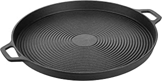 AmazonBasics Pre-Seasoned Cast Iron Pizza Pan -(S070)