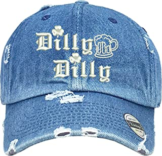 Allntrends Adult Hat Dilly Diily ST Patrick Embroidered Irish Vintage Dad  White 9eaf40303e0c