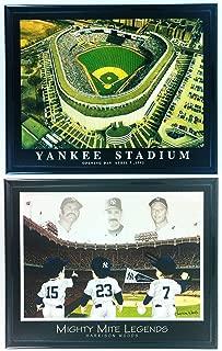 Framed Baseball NY Yankee Stadium Aerial Print Set of 2 LL6002