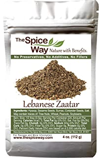 The Spice Way - Traditional Lebanese Zaatar with Hyssop | 4 oz | (No Thyme that is used as an hyssop substitute) Freshly Grown Seasoning. No Additives, No Perservatives (Za'atar/zatar/zahtar/zahatar)