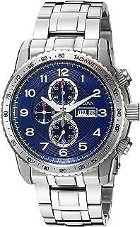 Bulova Men's 96C121 Marine Star Analog Display Quartz Silver Watch
