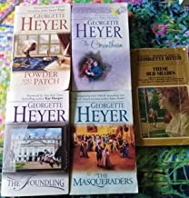 Georgette Heyer 5 volume Set, The Foundling, These Old Shades, Bath Tangle, Arabella, and Powder and Potch (Book of the Mo...