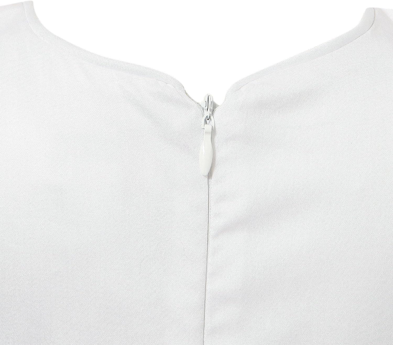 Richie House Little Girls' White Sleeveless Dress Size 24M-6 RH1885