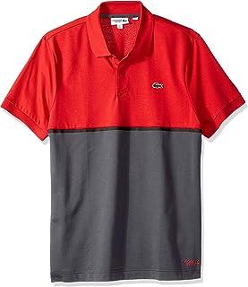 Lacoste Men's Short Sleeve Light Knit Colorblock Polo