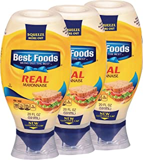 Best Foods Real Mayonnaise Squeeze Gluten Free 20 oz, 3 ct