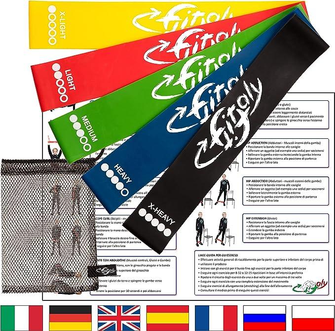 332 opinioni per FitFitaly Elastici Fitness e Fisioterapia con PDF per Esercizi in Italiano- Set