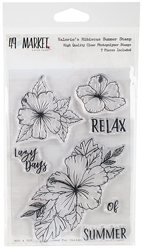 49 and Market Valerie's Hibuscus Summer Clear Stamps, 4