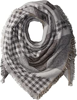 Steve Madden Plaid Variety Square Blanket Wrap