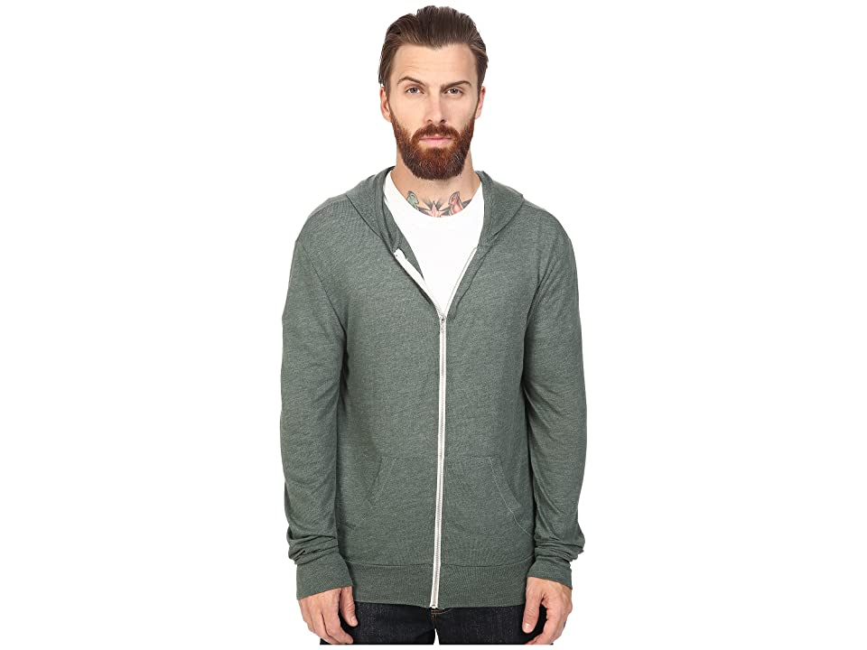 Alternative L/S Zip Hoodie (Eco True Dusty Pine) Men