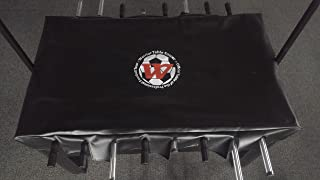 Warrior Table Soccer Foosball Table Cover - 56L x 30W - Soccer Table Cover Black