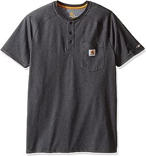 Carhartt Men's Force Delmont Short Sleeve Henley T-Shirt (Regular and Big & Tall Sizes)