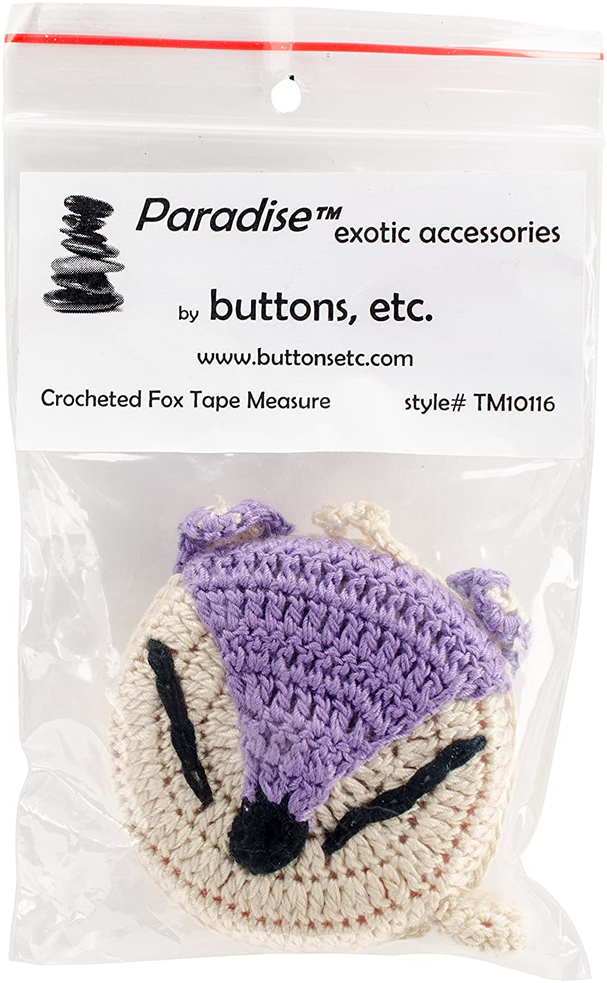 Paradise Exotic Shawl Pin Fox Paradise Crocheted Tape Measure 60
