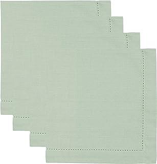Now Designs Set of 4 Hemstitch Napkins Aloe Green