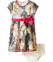 Us Angels - Bonded Mesh Cap Sleeve Dress (Infant)