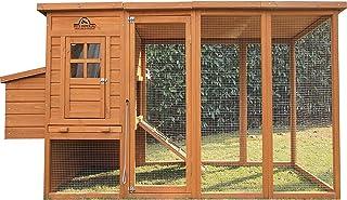 Pets Imperial® Arlington Hühnerstall mit extra Langen Auslaufflächen 8ft/2,5m und Asphaltabdeckung geeignet für 4/6 Vögel je nach Größe