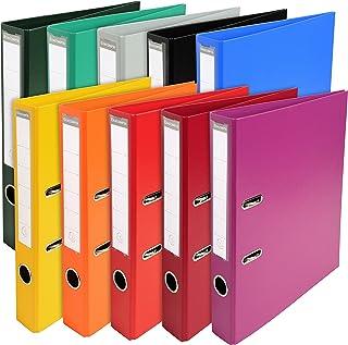 Exacompta - Réf. 53054E - Carton de 10 Classeurs à levier A4 Prem'Touch - Dos de 50 mm - Mécanique 55 mm- Dimensions extér...