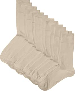 HIKARO, Calcetines para hombre, pack de 6 pares, talla 39-42, beige (beige melange 792)