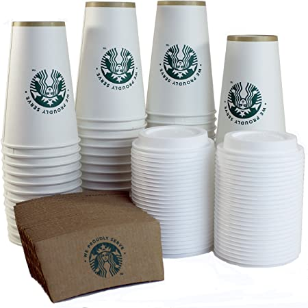 STARBUCKS disposable PAPER CUPS 1 SLEEVE OF 43 VENTI CUPS First Sip 20.5 oz