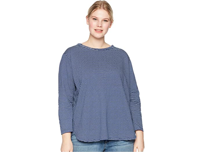 Fresh Produce Plus Size Pinstripe Catalina Top
