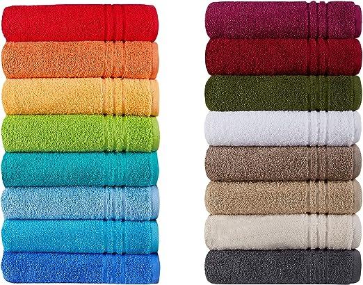 Handtuch Dunkelblau 50 x 100 mit Sunseeker Stickerei Biobaumwolle