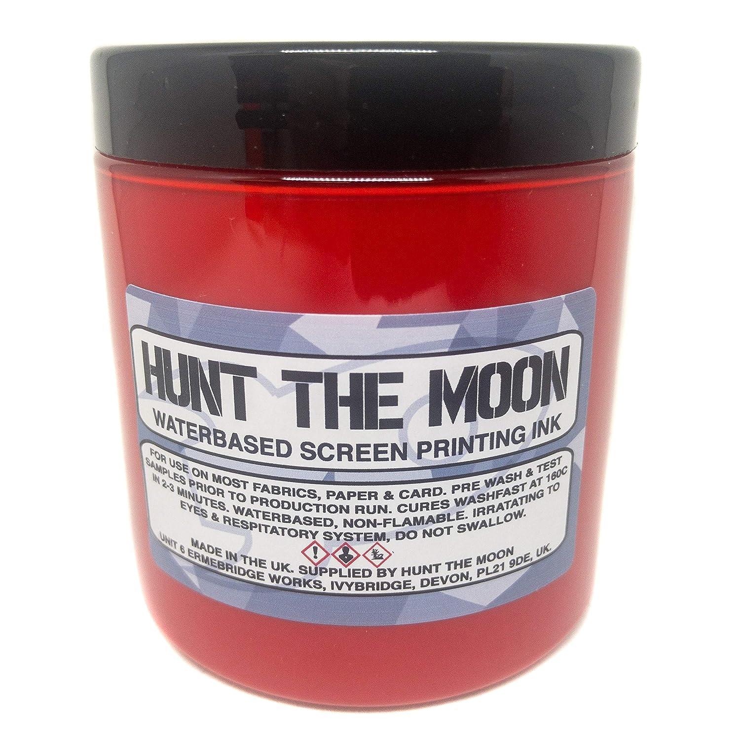 Hunt The Moon Water Based Screen Printing Ink, Rocket Red, 240ml