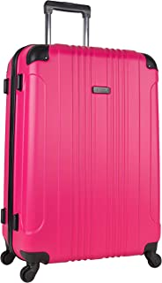pink lightweight suitcase
