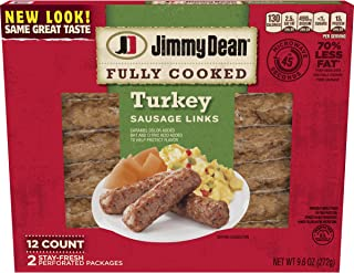 Jimmy Dean, Fully Cooked Sausage Turkey Links, 9.6 oz