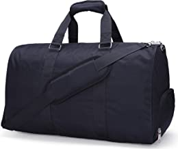 MIER Gym Duffel Bag for Men and Women with Shoe Compartment, Carry On Size, 20inches, Sets of 2(Large and Small), Black